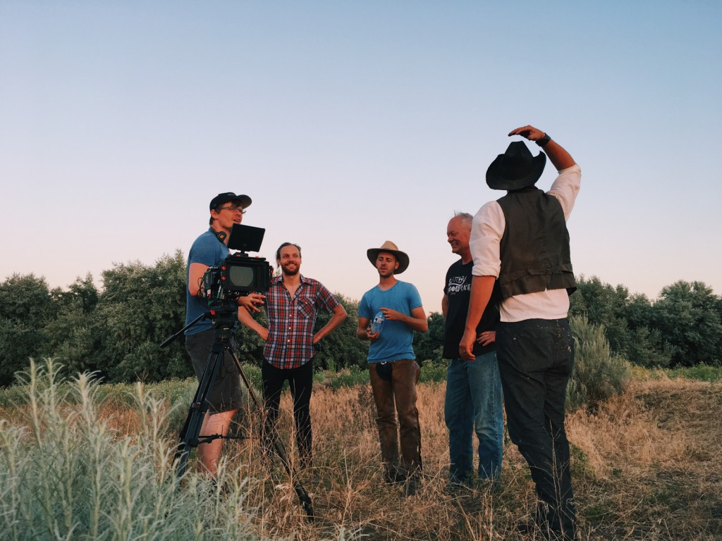 Left to right: Austin Glass, Producer/Director of Photography; Ben Strickland, Director; Phil Ostriem, Actor (Promo Film); Brian Wilkerson, Producer; Daniel Hede, Actor (Promo Film)